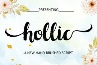 Hollic Brush by Barland Font Subscription 1