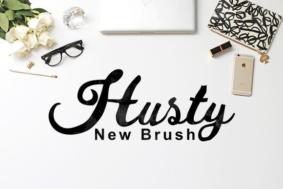 Husty Brush Font By Ijem RockArt