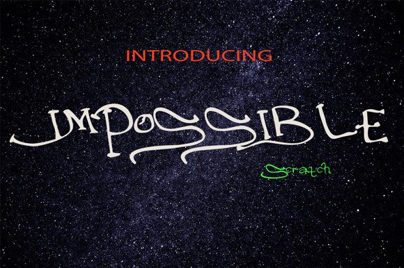 Impossible Display Font By YanIndesign