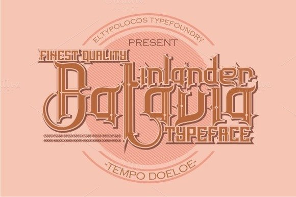 Print on Demand: Inlander Batavia Display Font By Bang Kumis Typefoundry