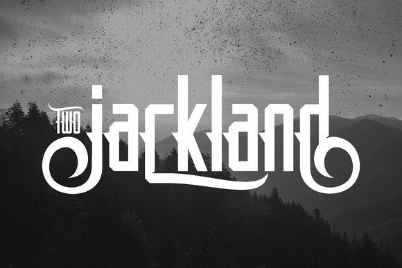 Jackland Two Font By Ijem RockArt