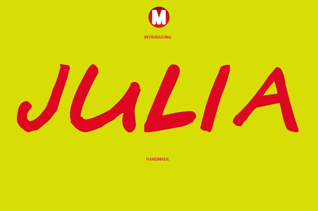 Julia Font By Only The Originals
