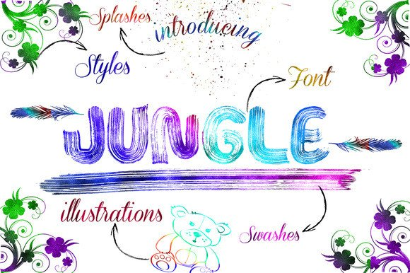 Print on Demand: Jungle Display Font By Only The Originals