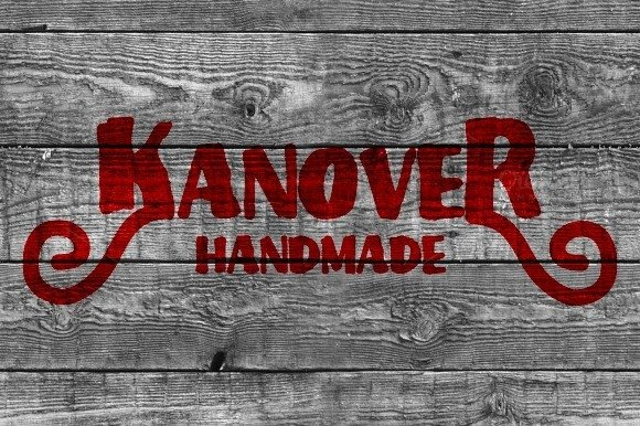 Print on Demand: Kanover Display Font By Ijem RockArt