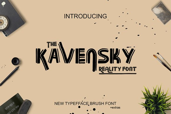Print on Demand: Kavensky Display Font By Only The Originals