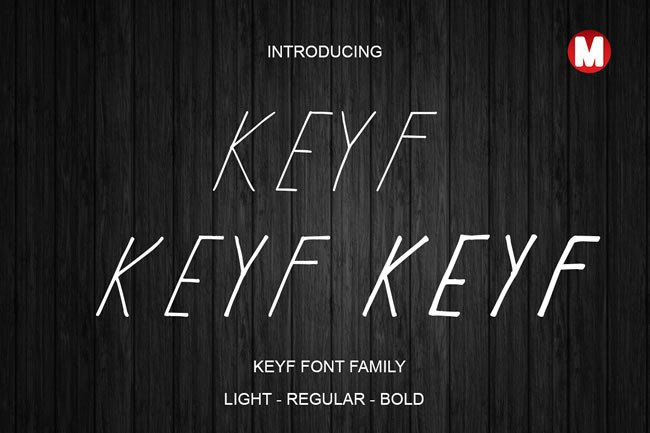Print on Demand: Keyf Display Font By Only The Originals