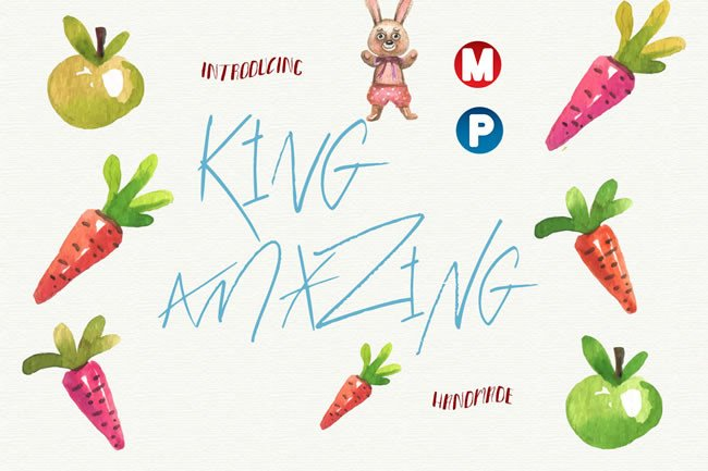 King Amazing Font By Only The Originals