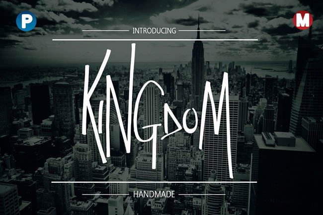 Print on Demand: Kingdom Display Font By Only The Originals