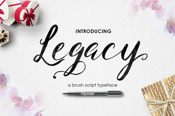 Print on Demand: Legacy Brush Script & Handwritten Font By No Gravity Type