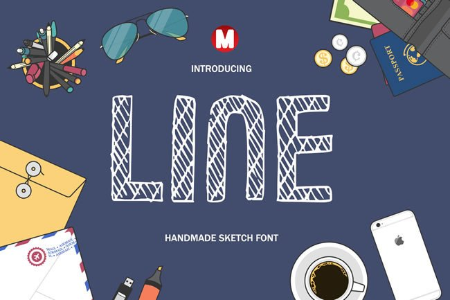 Print on Demand: Line Display Font By Only The Originals