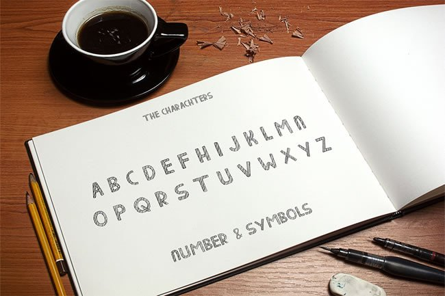Print on Demand: Line Display Font By Only The Originals - Image 2