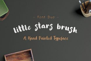Little Stars Brush Font By Ijem RockArt