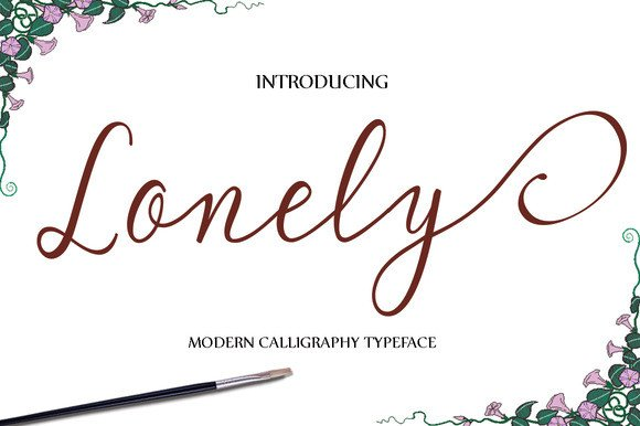 Print on Demand: Lonely Script & Handwritten Font By Polem