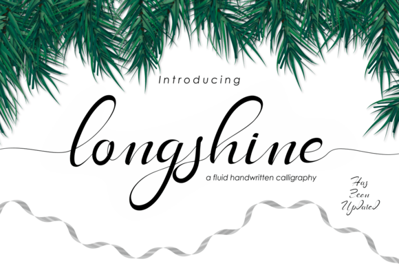 Print on Demand: Long Shine Script & Handwritten Font By BonjourType