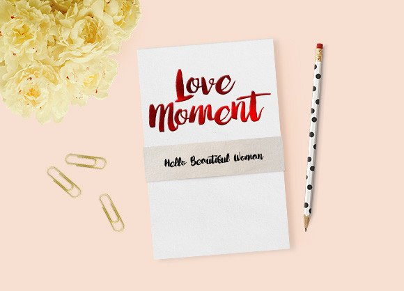 Print on Demand: Love Moment Script & Handwritten Font By Ijem RockArt
