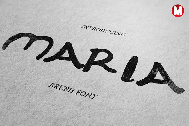 Print on Demand: Maria Display Font By Only The Originals