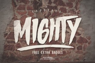 Mighty font by Giemons in Font Subscription 1
