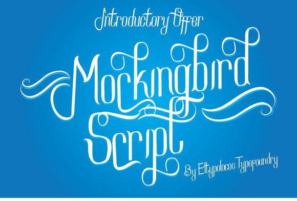 Print on Demand: Mockingbird Script Script & Handwritten Font By Bang Kumis Typefoundry