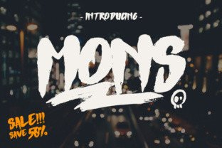 Mons font by Giemons in Font Subscription 2
