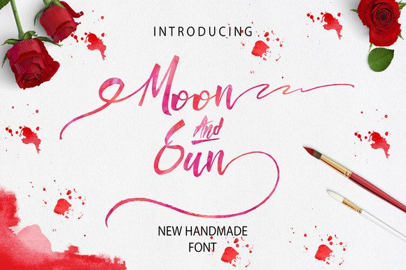 Print on Demand: Moon & Sun Script & Handwritten Font By Only The Originals