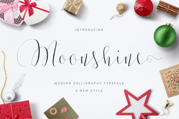 Print on Demand: Moonshine Script & Handwritten Font By Ian Mikraz