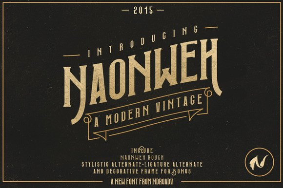 Print on Demand: Naonweh Display Font By Ndroadv