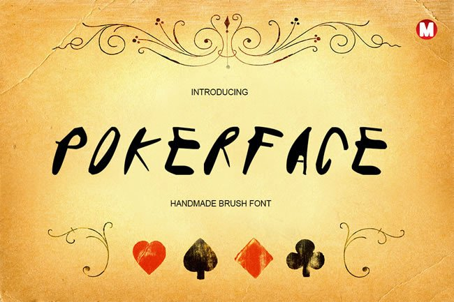 Print on Demand: Pokerface Display Font By Only The Originals