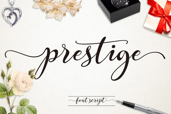 Print on Demand: Prestige Script & Handwritten Font By Byuly Ayika