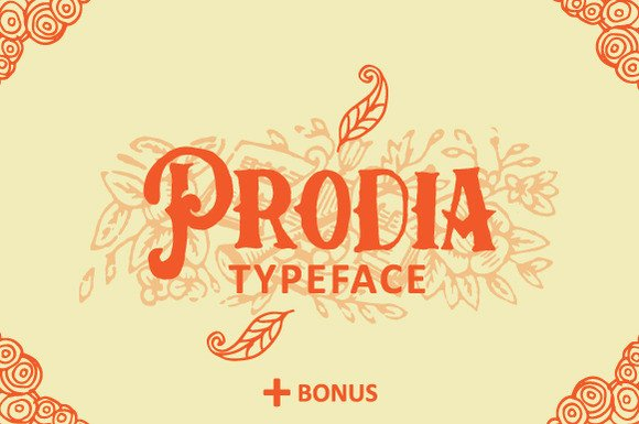 Print on Demand: Prodia Display Font By Ian Mikraz - Image 1