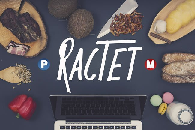 Print on Demand: Ractet Display Font By Only The Originals