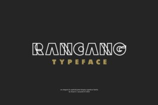 Rancang Font in font bundle subscription 1