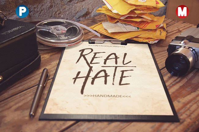 Print on Demand: Real Hate Display Font By Only The Originals