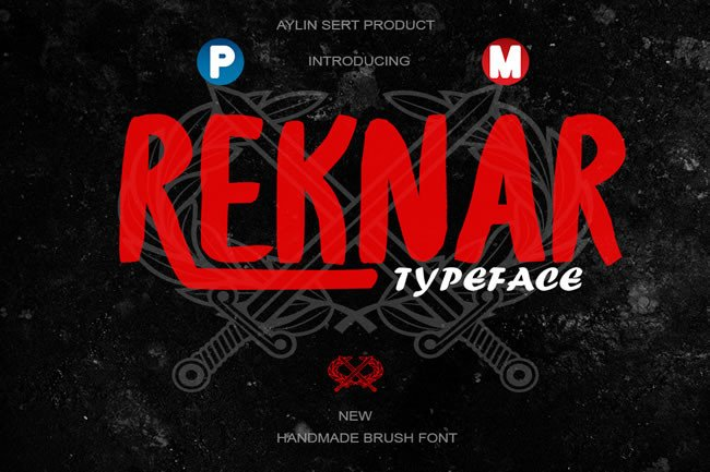 Print on Demand: Reknar Display Font By Only The Originals