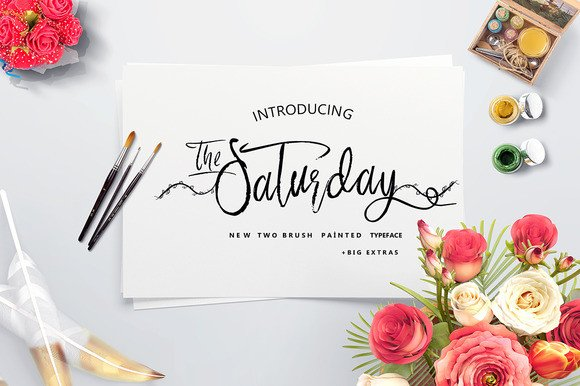 Print on Demand: Saturday Script & Handwritten Font By Only The Originals
