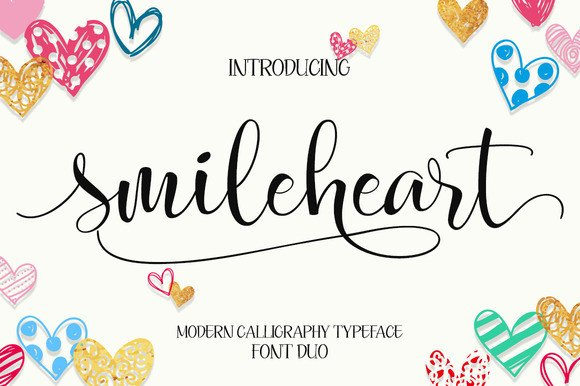 Print on Demand: Smileheart Script & Handwritten Font By Byuly Ayika