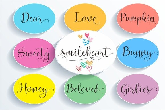 Print on Demand: Smileheart Script & Handwritten Font By Byuly Ayika - Image 2