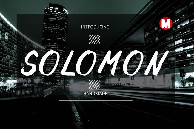 Print on Demand: Solomon Display Font By Only The Originals