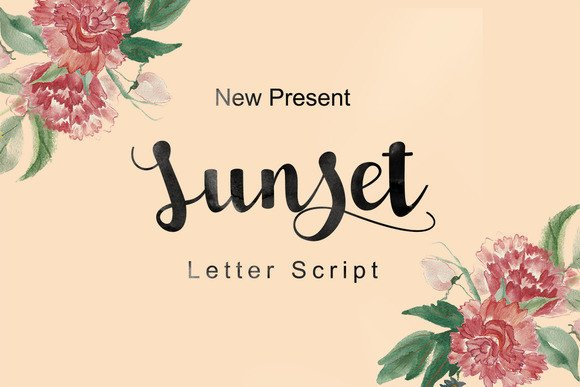 Print on Demand: Sunset Script Script & Handwritten Font By Ijem RockArt