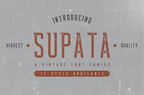 Print on Demand: Supata Family Display Font By Bdstrd Std - Image 1