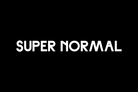 Print on Demand: Super Normal Sans Serif Fuente Por Noe Araujo
