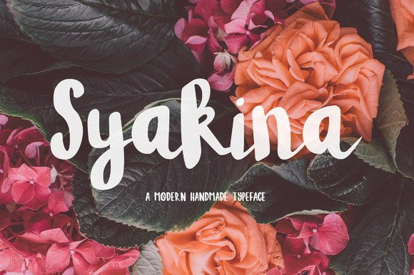 Print on Demand: Syakina Script & Handwritten Font By Wowok Prast
