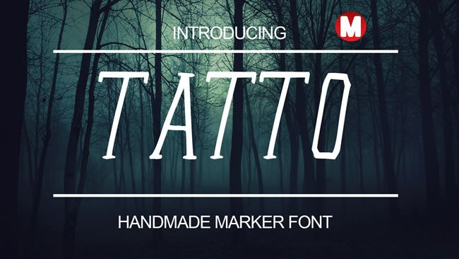 Print on Demand: Tatto Display Font By Only The Originals