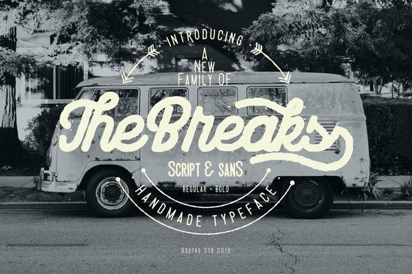Print on Demand: The Breaks Display Font By Bdstrd Std