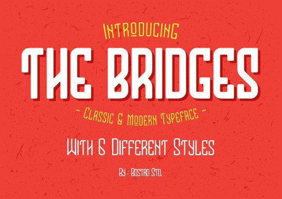Print on Demand: The Bridges Display Font By barland