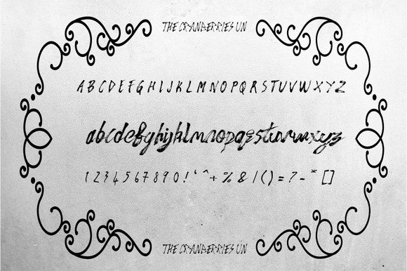 Print on Demand: The Cranberries Script & Handwritten Font By Only The Originals - Image 5