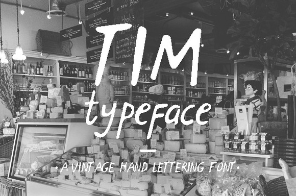 Print on Demand: Tim Display Font By Blue Robin Design Shop - Image 1
