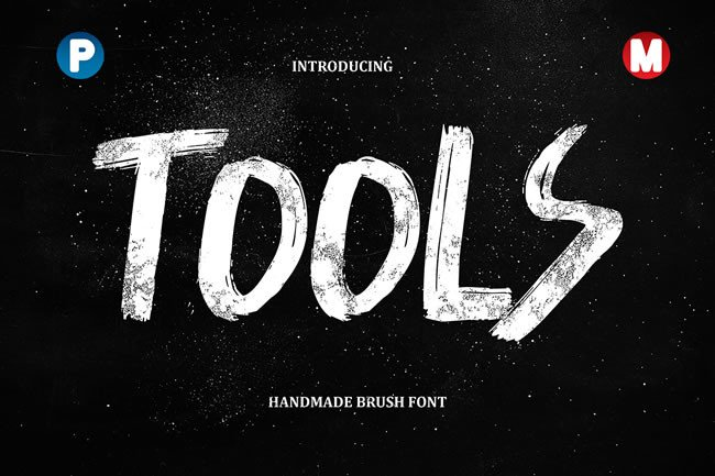Print on Demand: Tools Display Font By Only The Originals
