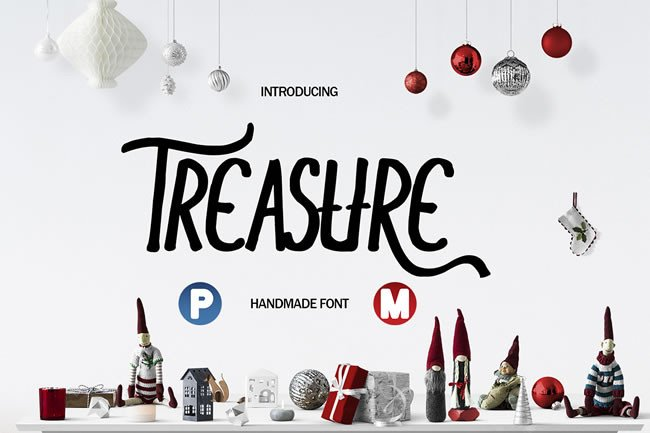 Print on Demand: Treasure Display Font By Only The Originals