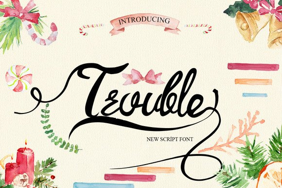 Print on Demand: Trouble Script & Handwritten Font By Only The Originals