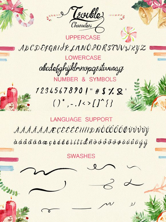 Print on Demand: Trouble Script & Handwritten Font By Only The Originals - Image 5